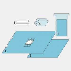 Комплект для лапароскопии полостной
