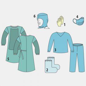 Комплект защитной одежды врача-инфекциониста № 8