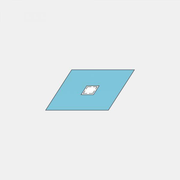 Простыня различных размеров с отверстиями различных форм, размеров и инцизионной пленкой