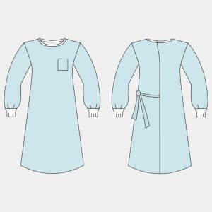 Халат хирургический модель «КОМФОРТ»,  (размеры: 44-46, 48-50, 52-54, 56-58; длина 140 см)
